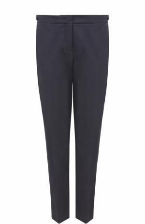 Укороченные брюки прямого кроя со стрелками Loro Piana. Цвет: темно-серый