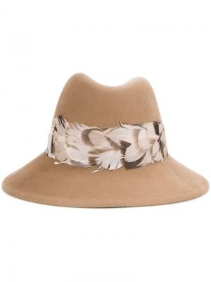 Шляпа-федора Eugenia Kim. Цвет: коричневый