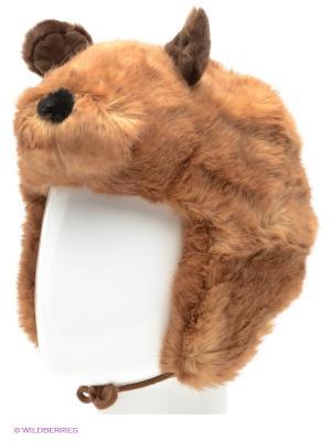 Шапка True Fur. Цвет: коричневый