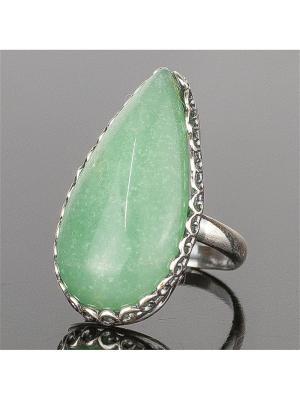 Кольцо Мариэтта нефрит Колечки. Цвет: зеленый