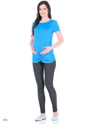 Футболка для беременных 40 недель. Цвет: голубой