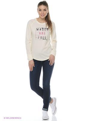 BILLABONG футболка ж WAVES ARE FREE (FW16). Цвет: белый