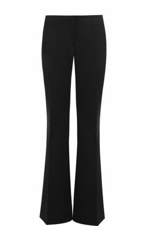 Шерстяные расклешенные брюки со стрелками Burberry. Цвет: черный