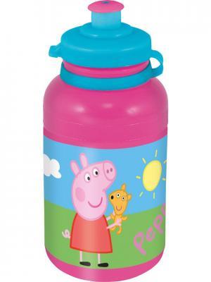 Бутылка пластиковая (спортивная, 400 мл). Свинка Пеппа Stor. Цвет: розовый