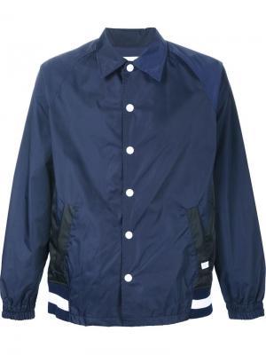 Легкая куртка на пуговицах Facetasm. Цвет: синий