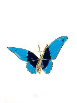 Брошь Bijoux Land. Цвет: золотистый, синий, голубой