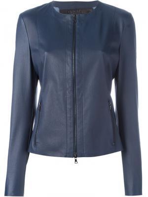 Укороченная куртка на молнии Drome. Цвет: синий