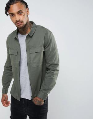 Another Influence Куртка на молнии. Цвет: зеленый