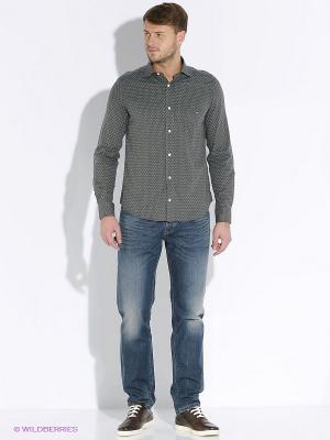 Рубашка Eden Park. Цвет: серый, белый