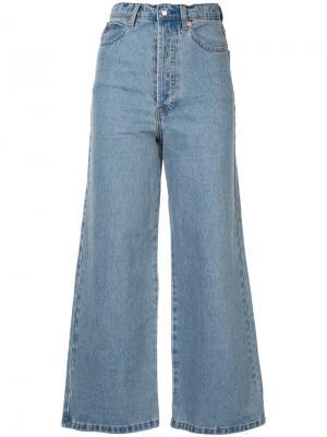 Широкие джинсы Solace. Цвет: синий