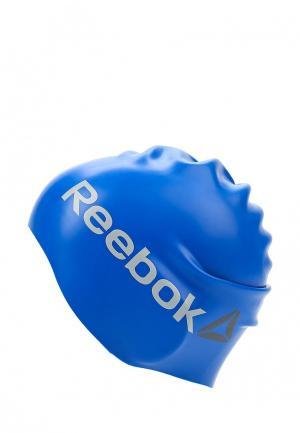 Шапочка для плавания Reebok. Цвет: синий