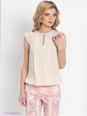 Блузка DEVORE. Цвет: кремовый