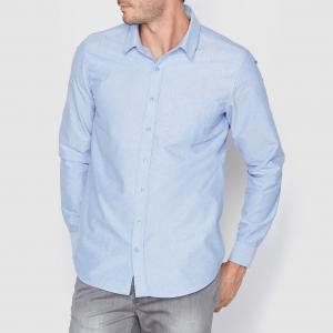 Рубашка из ткани оксфорд прямого покроя R essentiel. Цвет: бледно-розовый,небесно-голубой