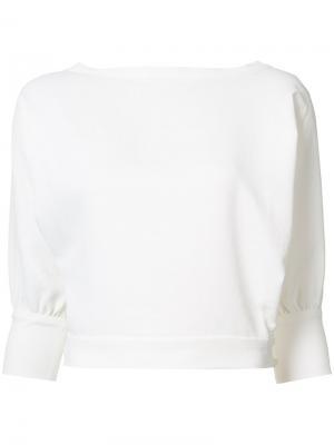 Блузка с укороченными рукавами Rachel Comey. Цвет: белый