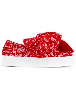 Кроссовки с узлом Joshua Sanders. Цвет: красный