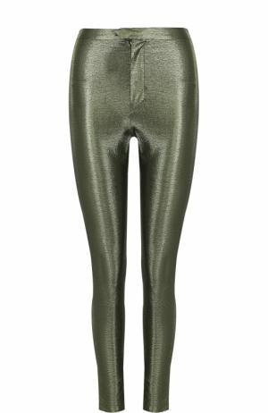 Однотонные брюки-скинни Isabel Marant. Цвет: зеленый