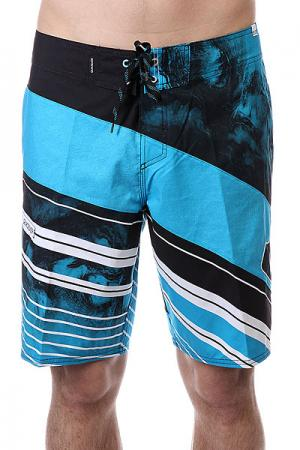 Шорты пляжные  Spaceintersect Blue/Black/White Quiksilver. Цвет: голубой,черный,белый