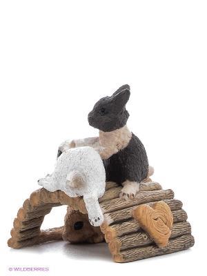 Кролики играют SCHLEICH. Цвет: коричневый