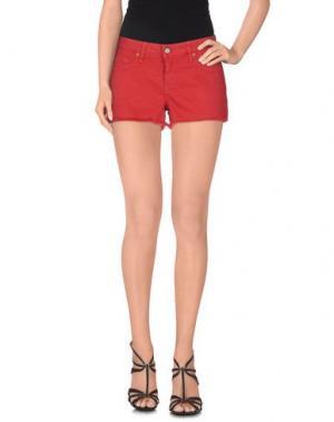 Джинсовые шорты BLAUER. Цвет: красный