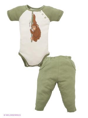 Комплект Hudson Baby. Цвет: зеленый, молочный