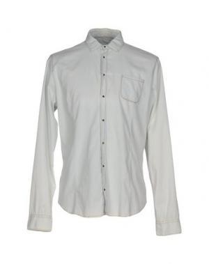 Джинсовая рубашка PATRIZIA PEPE. Цвет: небесно-голубой