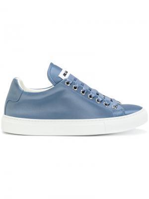 Кеды на шнуровке Jil Sander. Цвет: синий