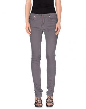 Джинсовые брюки APRIL 77. Цвет: свинцово-серый