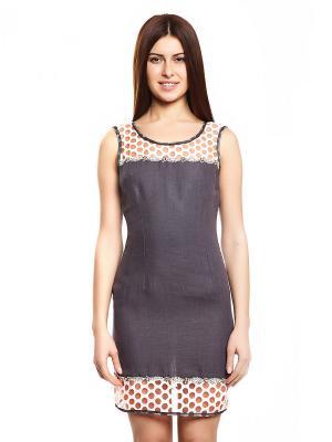 Платье TOPSANDTOPS. Цвет: серо-коричневый