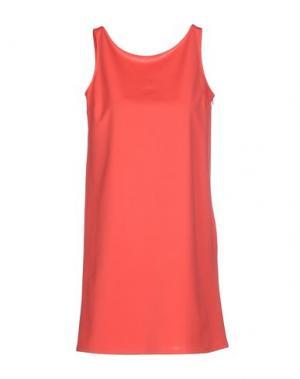 Короткое платье SIMONA MARTINI. Цвет: коралловый