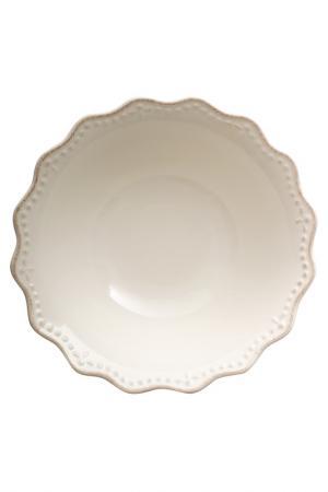Салатник 25 см H&H. Цвет: белый