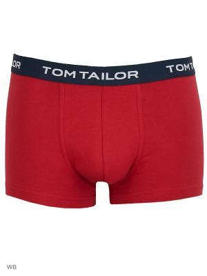 Трусы хипстеры, 3 шт. TOM TAILOR. Цвет: красный, зеленый, темно-синий