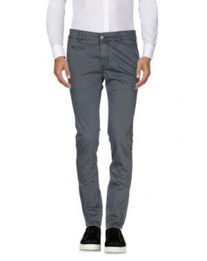 Повседневные брюки FIFTY FOUR. Цвет: свинцово-серый