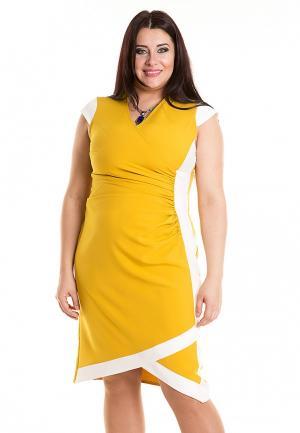 Платье Luxury Plus. Цвет: желтый
