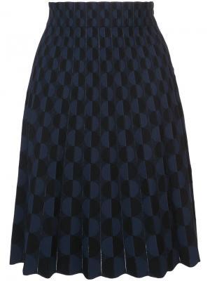 Юбка с геометрическим узором Akris Punto. Цвет: чёрный
