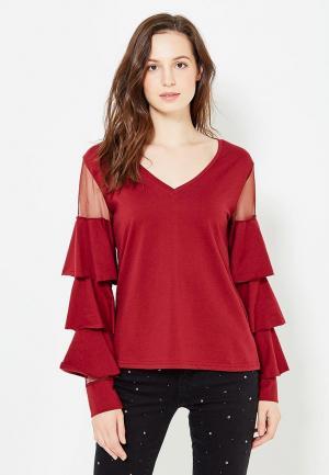Блуза Care of You. Цвет: бордовый