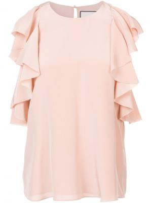 Ruffle detail blouse Alexis. Цвет: розовый и фиолетовый