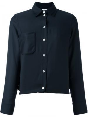 Рубашка с накладным карманом Courrèges. Цвет: синий