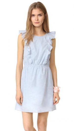 Платье с оборками Bellflower Madewell. Цвет: синий