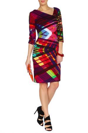 Платье Adzhedo. Цвет: фиолетовый, мультицвет