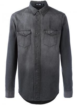 Джинсовая рубашка с карманами Blk Dnm. Цвет: серый