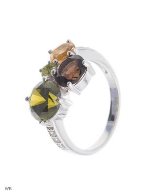 Кольцо Митра Ювелир. Цвет: оливковый, салатовый, коричневый, желтый