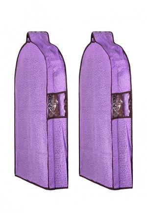 Комплект чехлов для верхней одежды 2 шт. El Casa. Цвет: фиолетовый