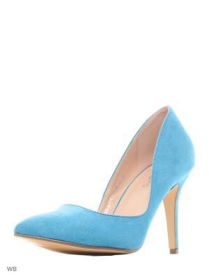 Туфли Amazonga. Цвет: бирюзовый