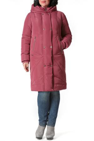 Пальто D`imma. Цвет: вишневый