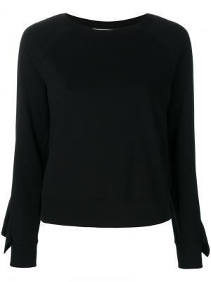 Ruched sleeves sweatshirt Dondup. Цвет: чёрный