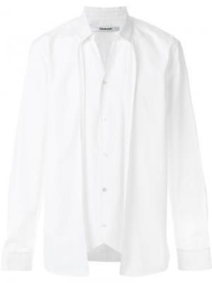 Двухслойная рубашка Chalayan. Цвет: белый