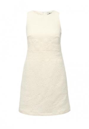 Платье MAST. Цвет: бежевый