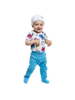 Ползунки детские трикотажные для мальчиков, 2 шт. в комплекте PlayToday. Цвет: голубой