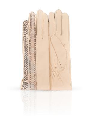 Перчатки Dali Exclusive. Цвет: кремовый, серый