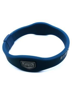 Браслет Energy Armor Blue/Silver Energyarmor. Цвет: темно-синий